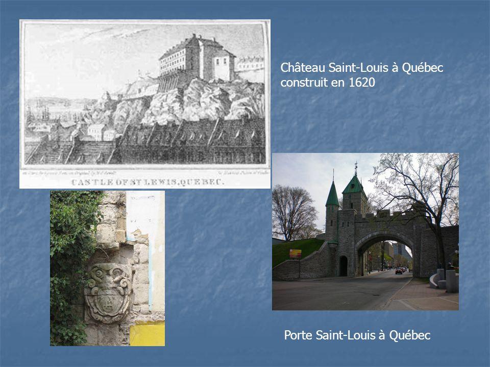 Château Saint-Louis à Québec construit en 1620