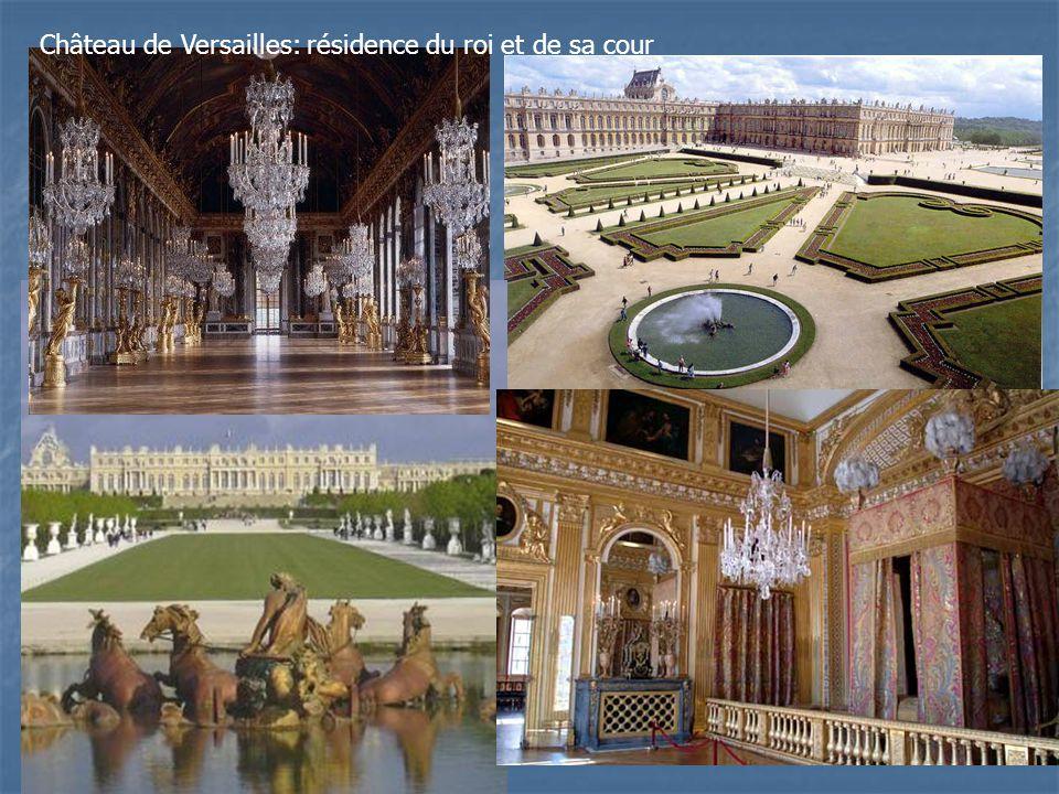 Château de Versailles: résidence du roi et de sa cour