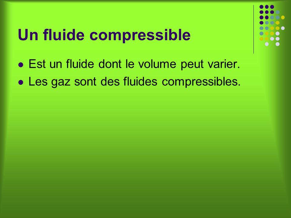 Un fluide compressible