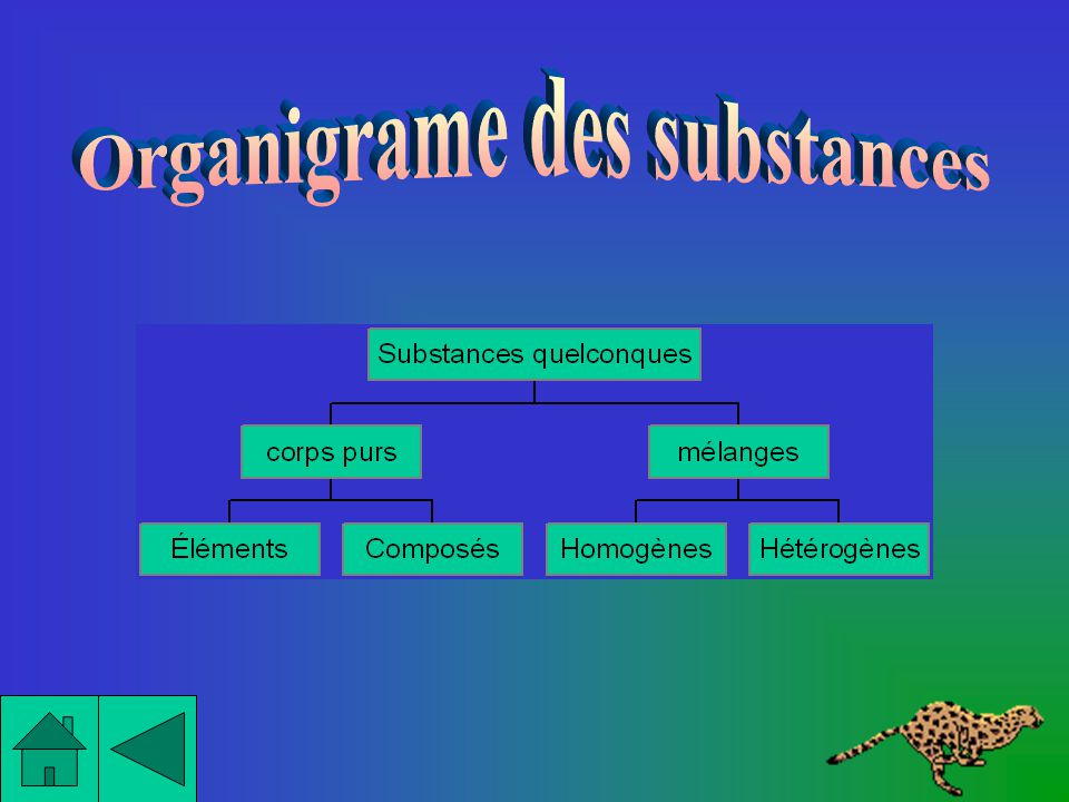 Organigrame des substances