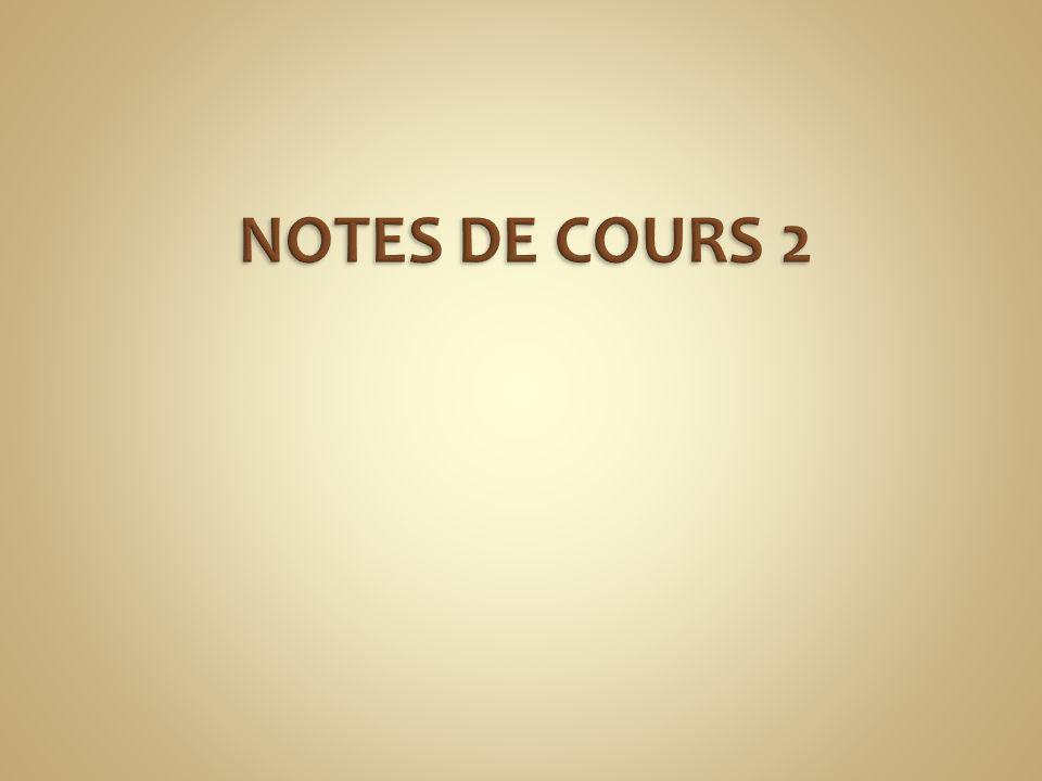 NOTES DE COURS 2