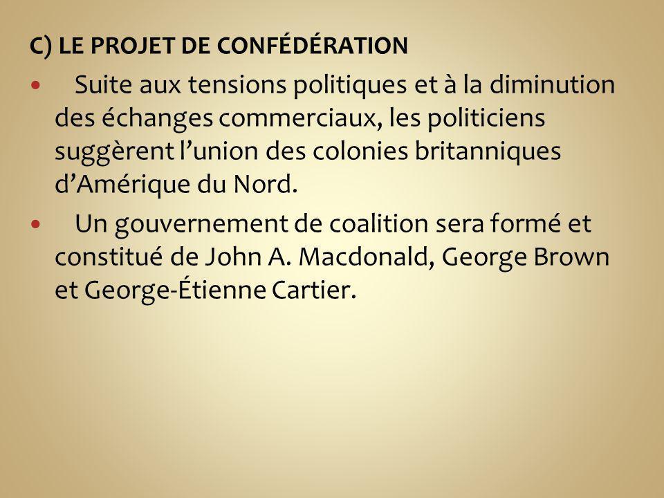C) LE PROJET DE CONFÉDÉRATION