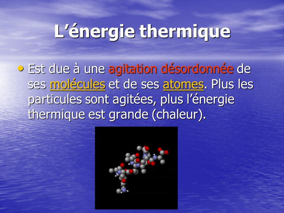 L'énergie thermique