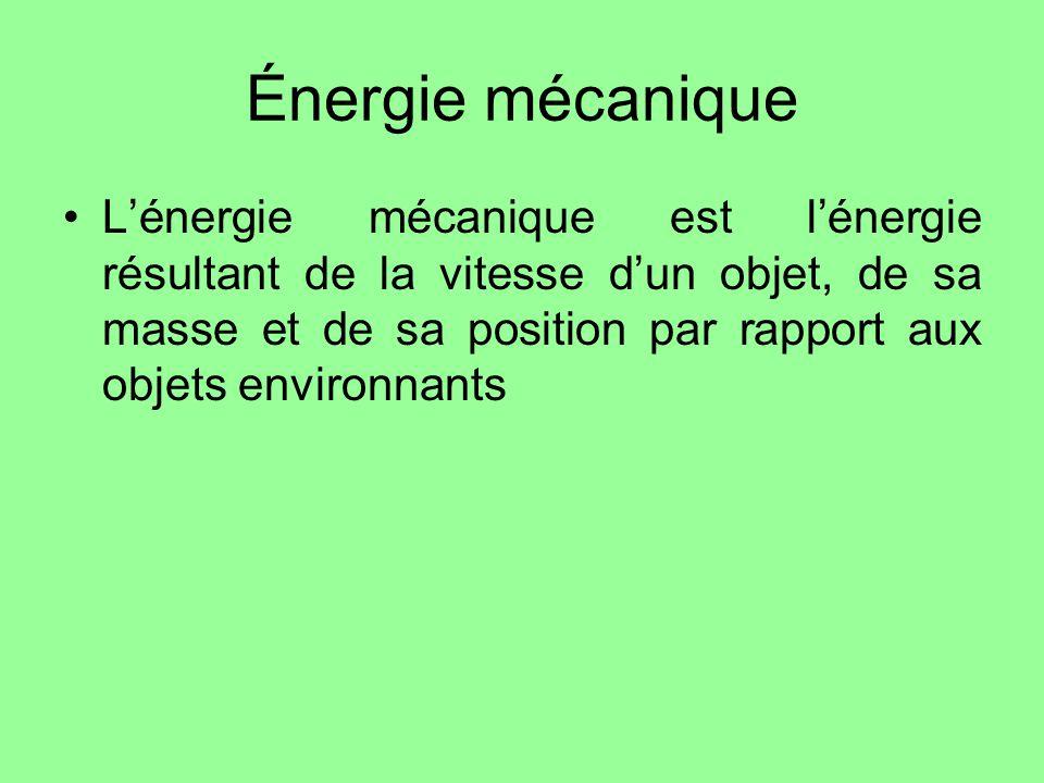 Énergie mécanique