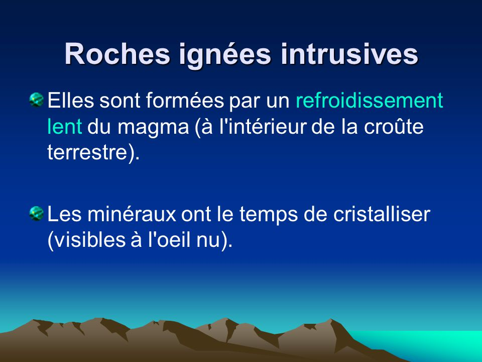 Roches ignées intrusives