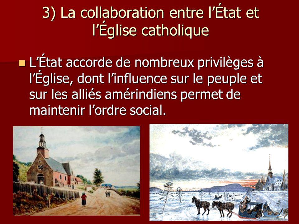 3) La collaboration entre l'État et l'Église catholique