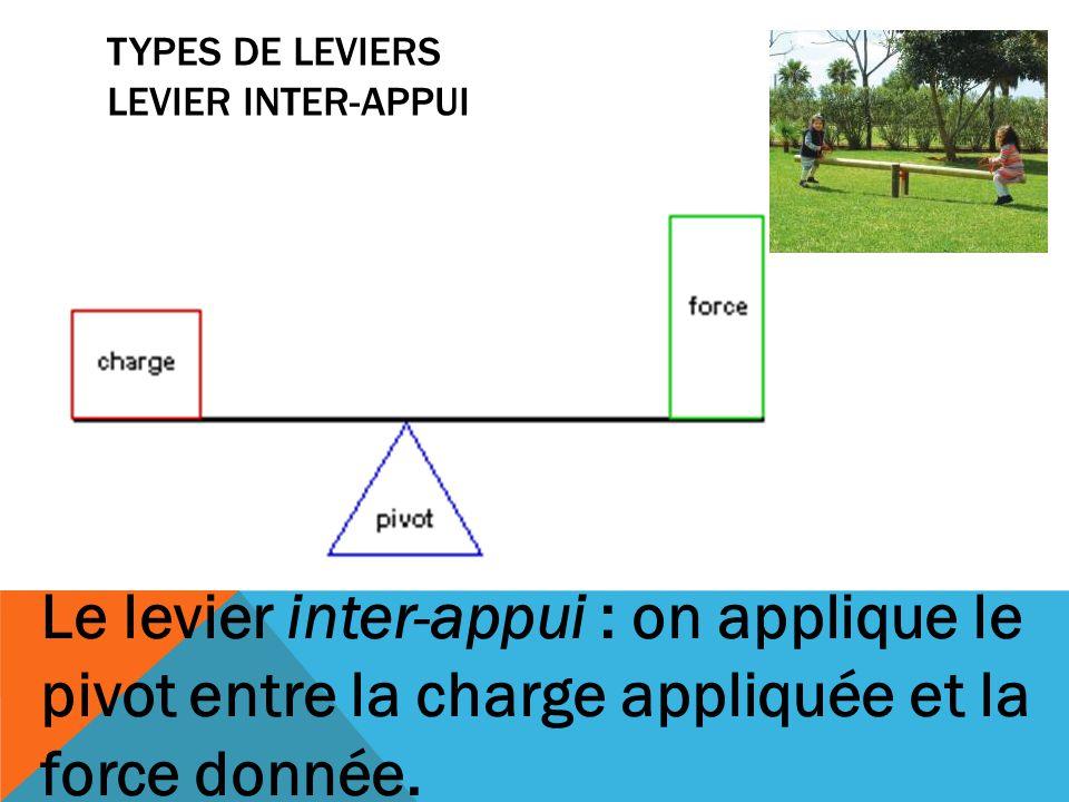 Types de leviers Levier inter-appui