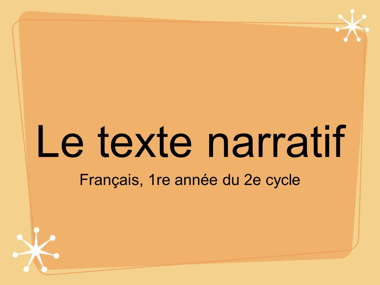 Français, 1re année du 2e cycle