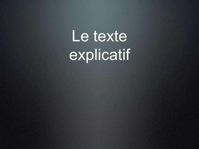Le texte explicatif