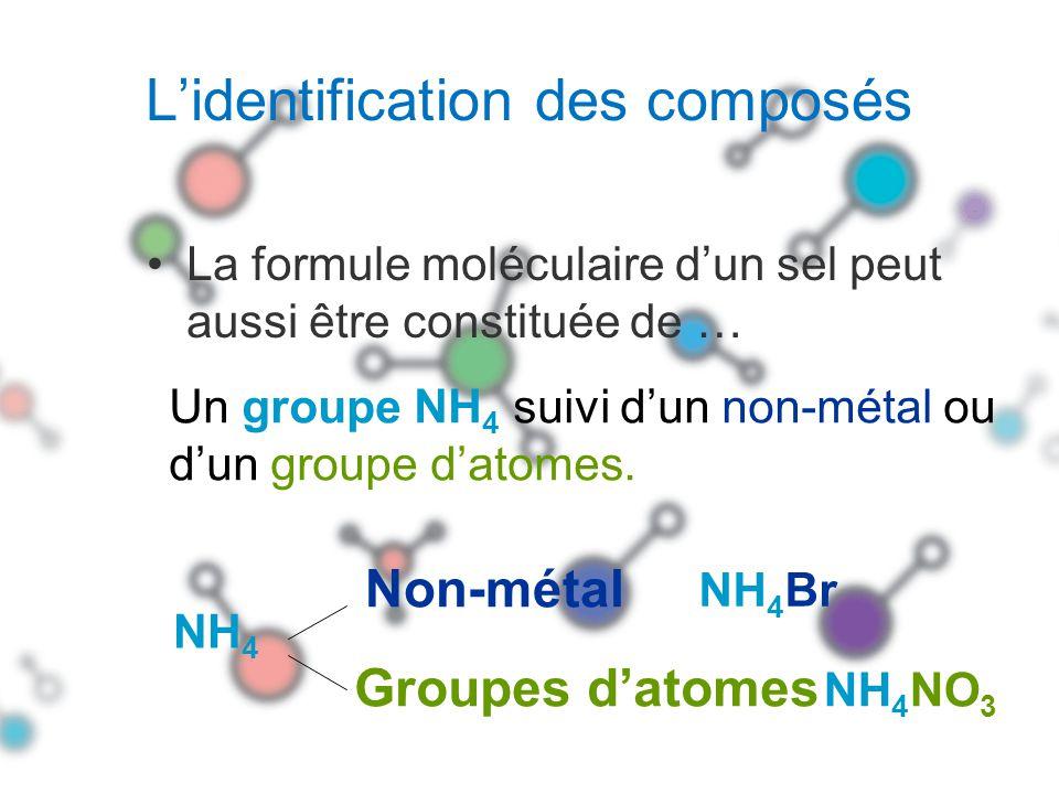 L'identification des composés