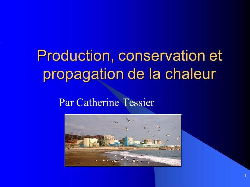 Production, conservation et propagation de la chaleur