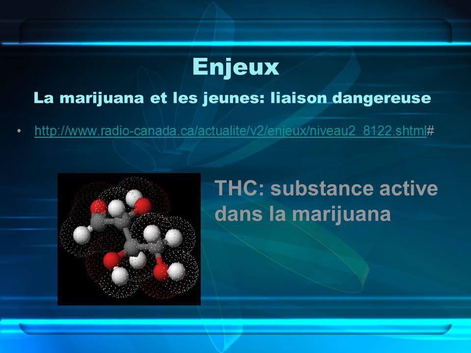 Enjeux La marijuana et les jeunes: liaison dangereuse
