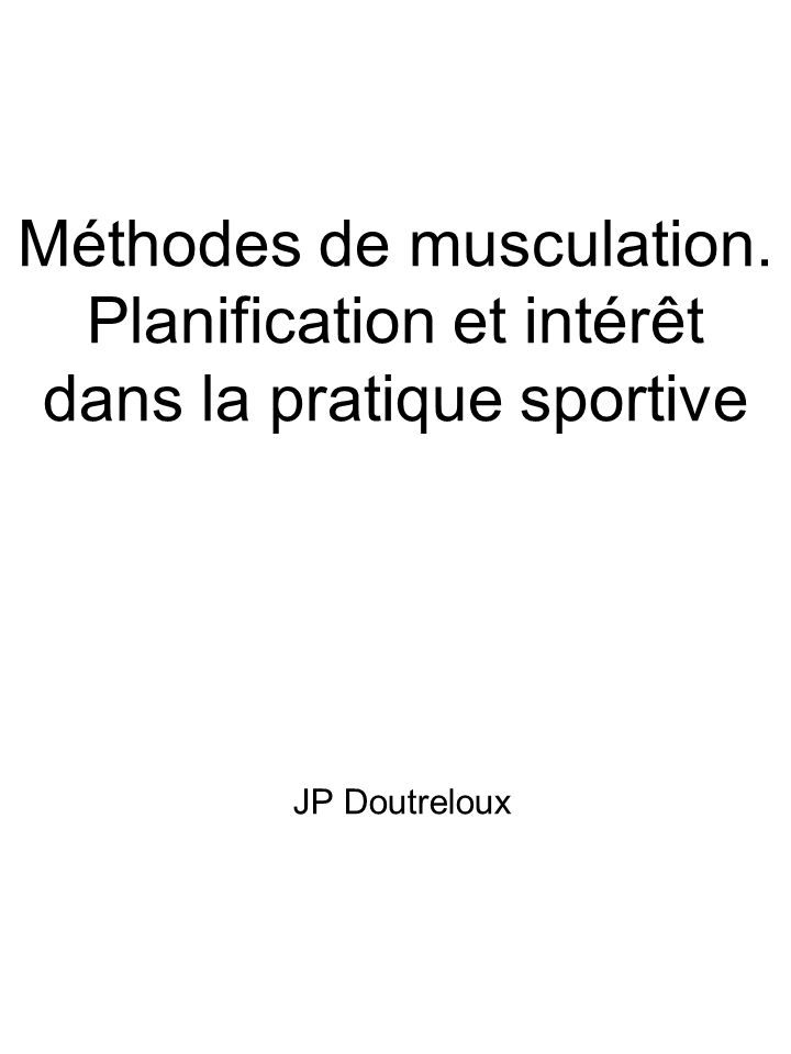 Méthodes de musculation