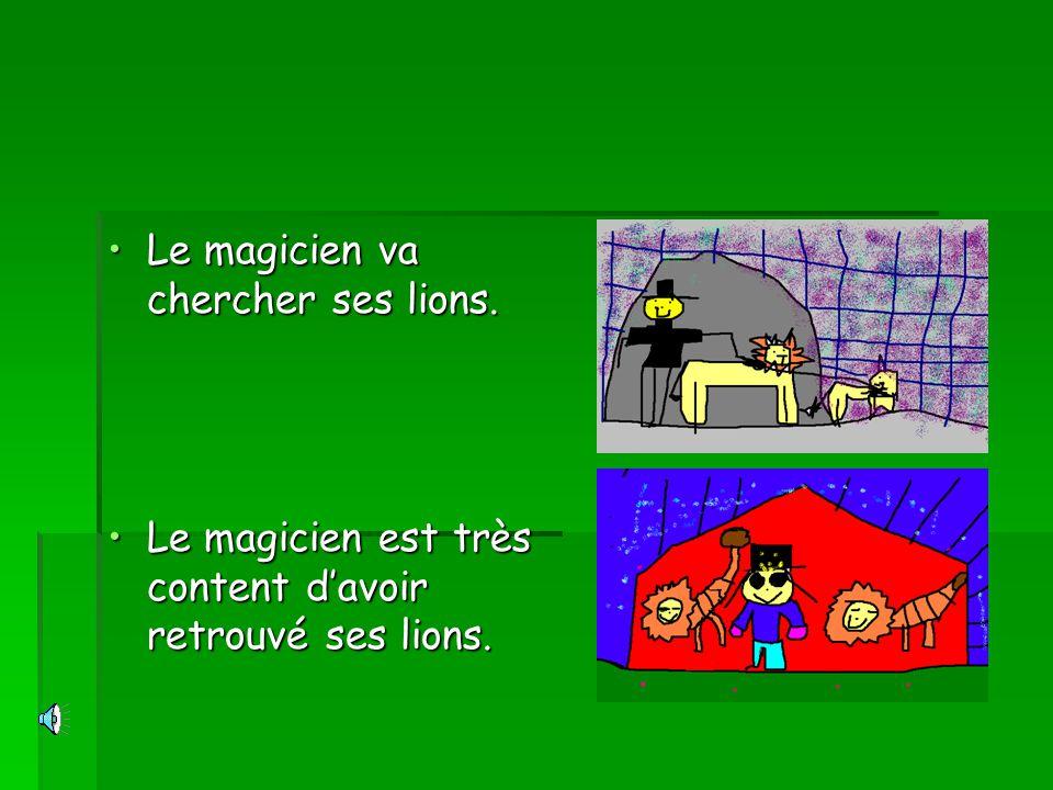 Le magicien va chercher ses lions.