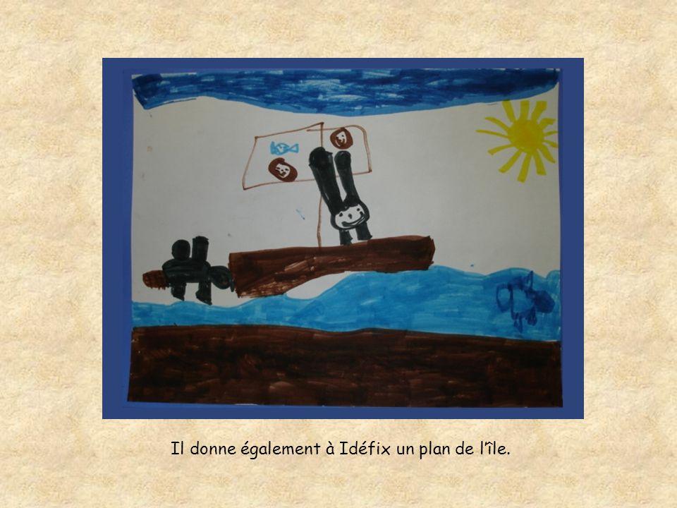 Il donne également à Idéfix un plan de l'île.