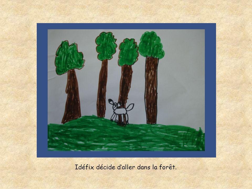 Idéfix décide d'aller dans la forêt.