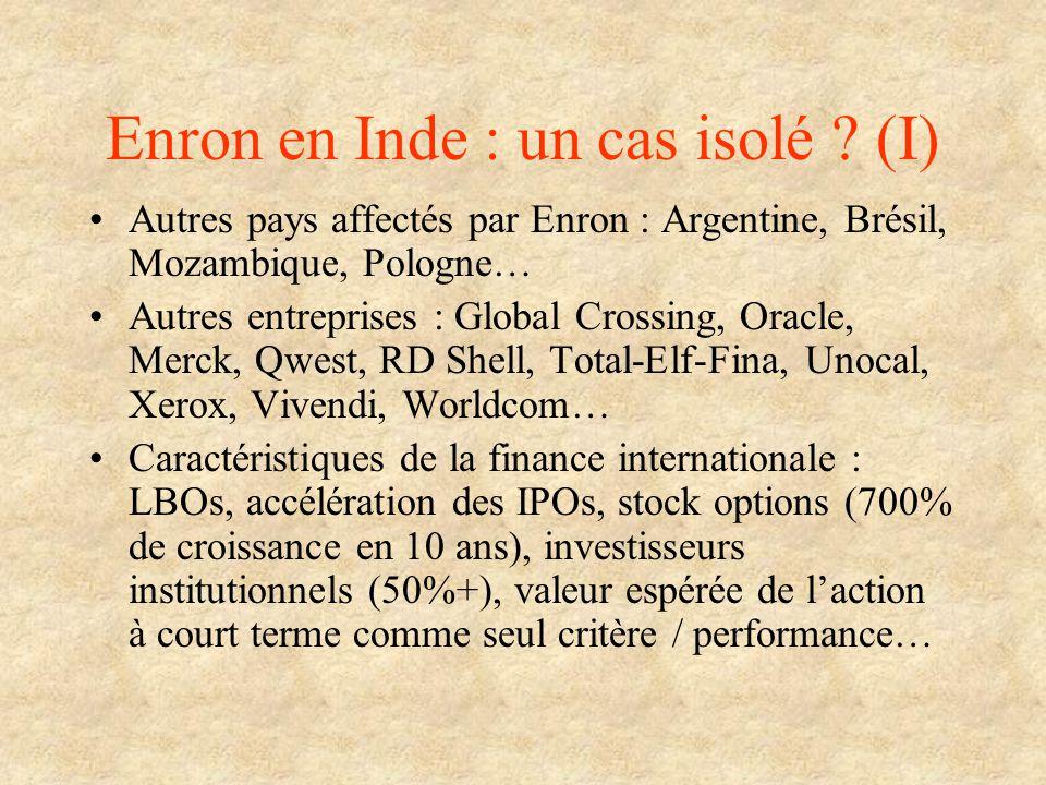 Enron en Inde : un cas isolé (I)