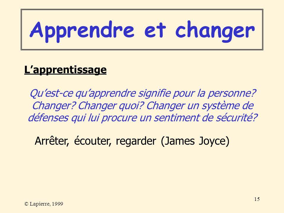 Apprendre et changer Arrêter, écouter, regarder (James Joyce)