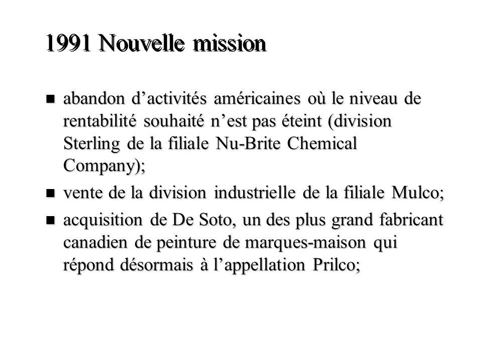 1991 Nouvelle mission