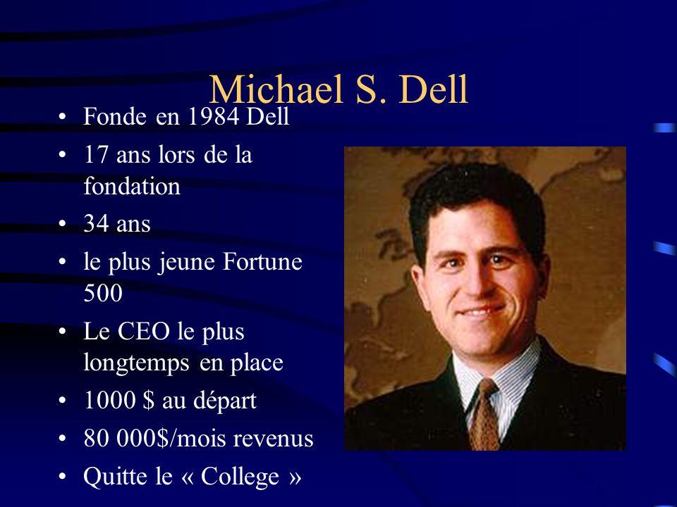 Michael S. Dell Fonde en 1984 Dell 17 ans lors de la fondation 34 ans