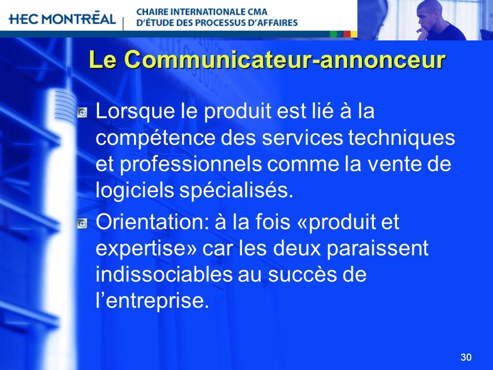 Le Communicateur-annonceur