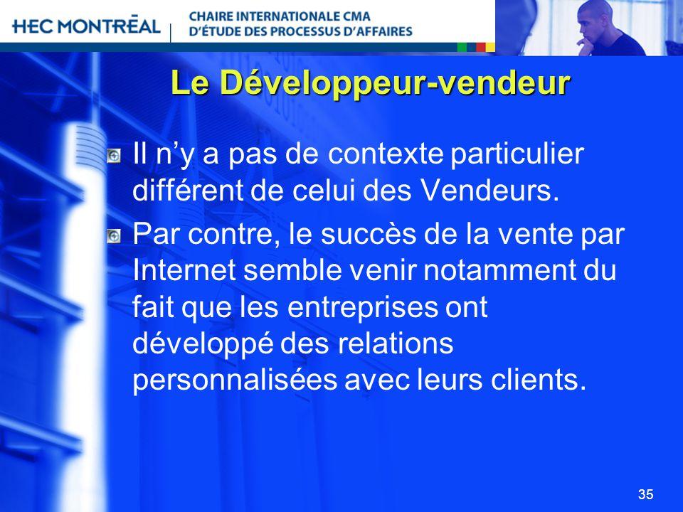 Le Développeur-vendeur