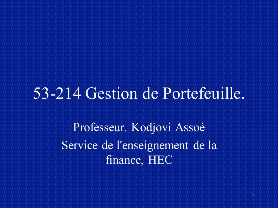53-214 Gestion de Portefeuille.