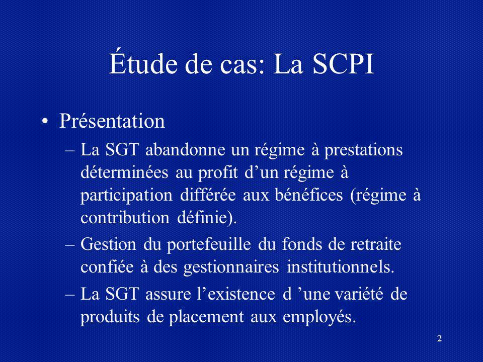 Étude de cas: La SCPI Présentation