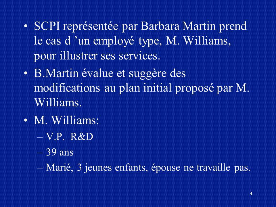 SCPI représentée par Barbara Martin prend le cas d 'un employé type, M
