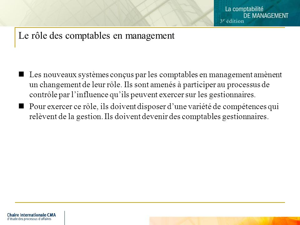 Le rôle des comptables en management