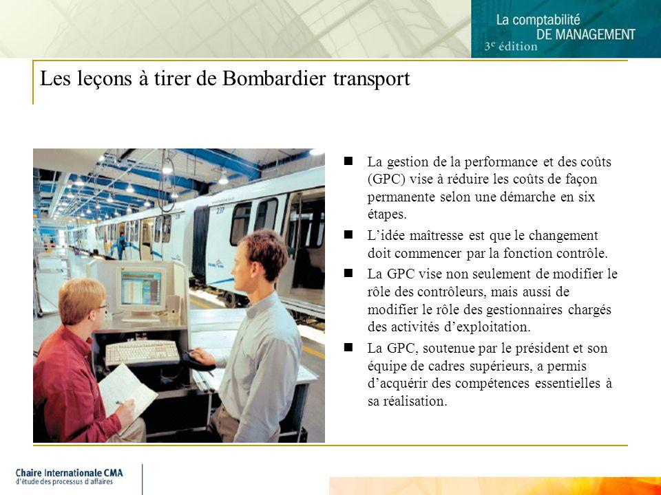 Les leçons à tirer de Bombardier transport
