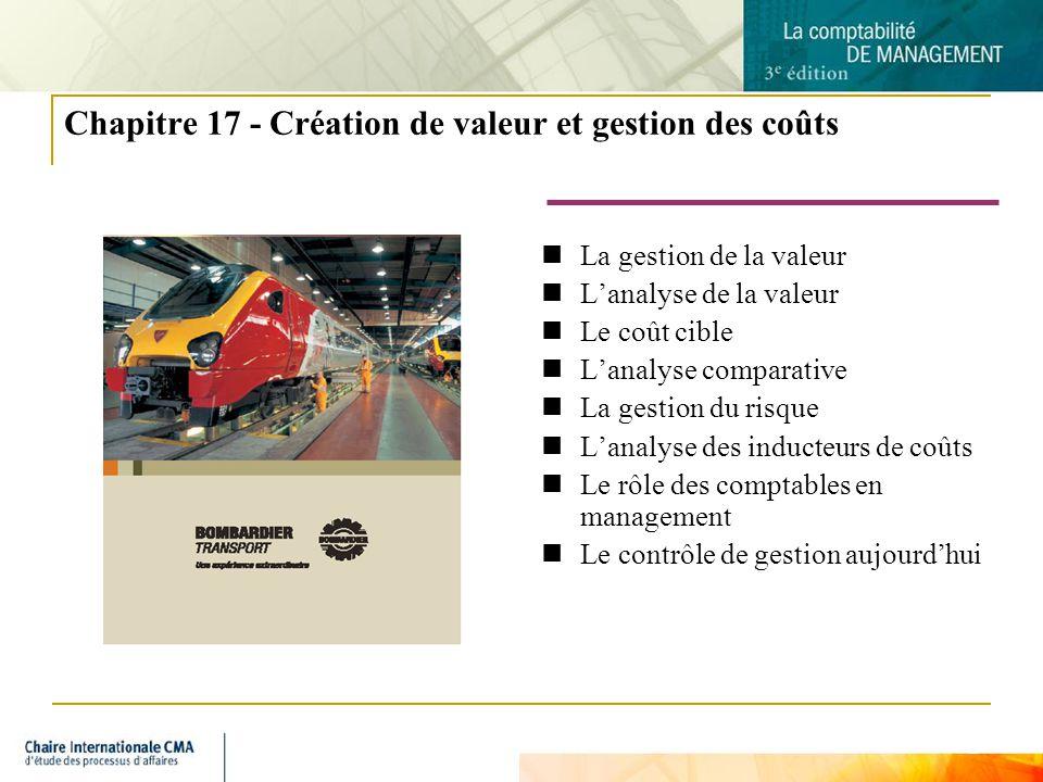 Chapitre 17 - Création de valeur et gestion des coûts