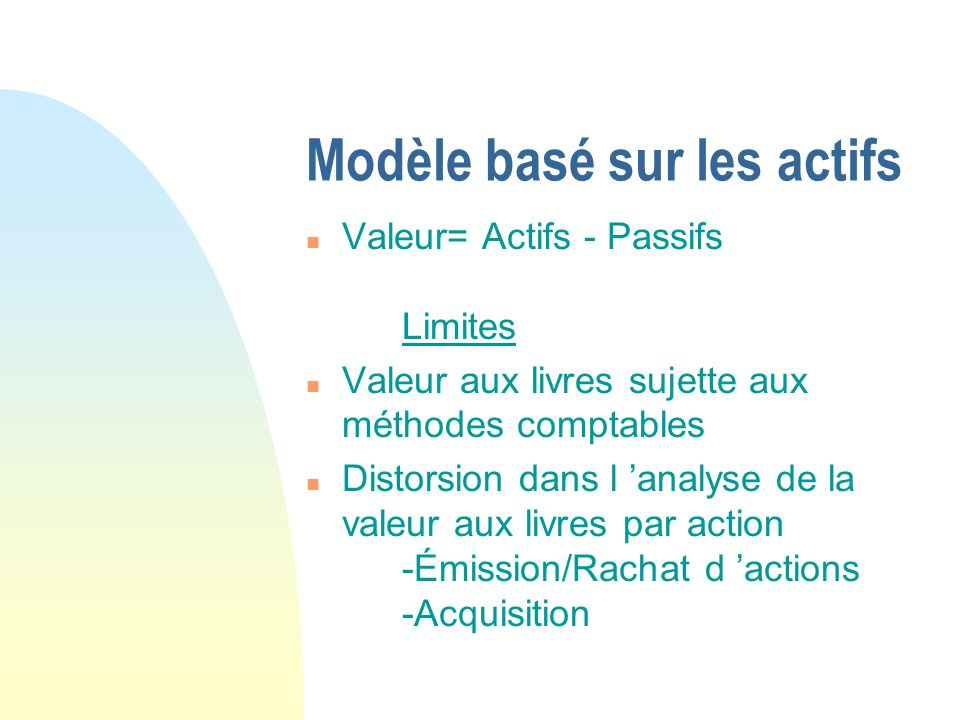 Modèle basé sur les actifs
