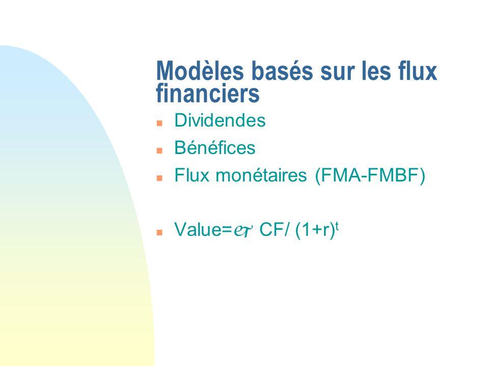Modèles basés sur les flux financiers