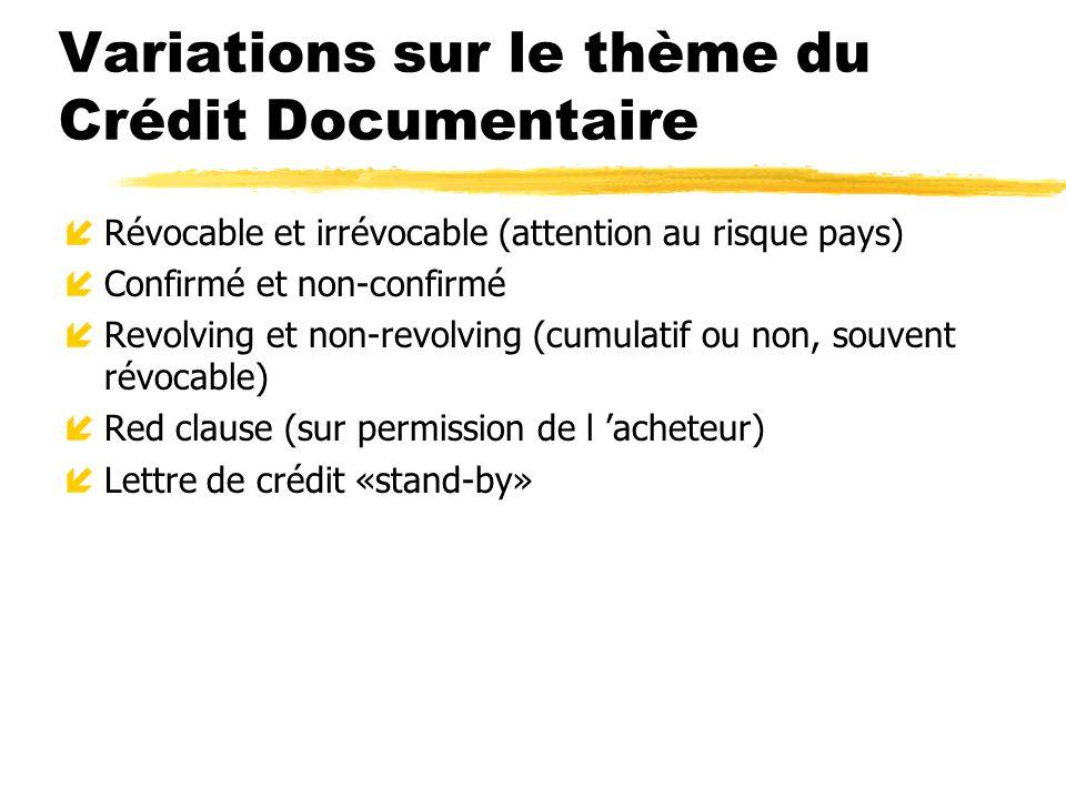 Variations sur le thème du Crédit Documentaire