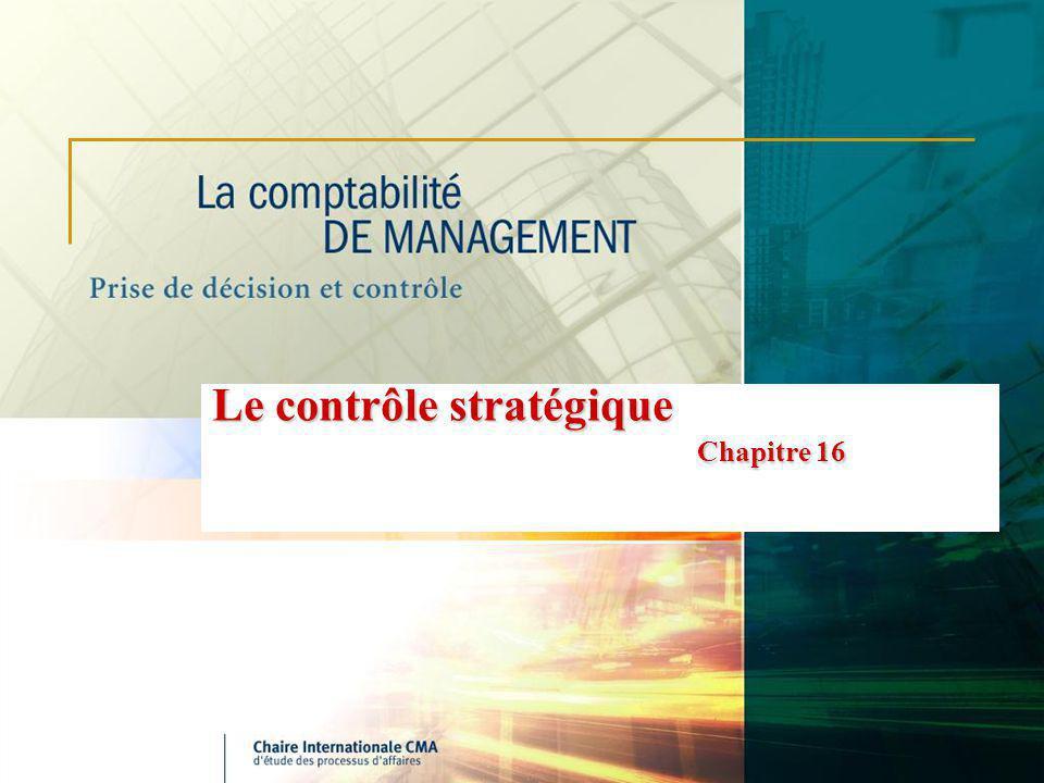 Le contrôle stratégique Chapitre 16