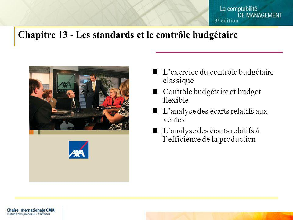 Chapitre 13 - Les standards et le contrôle budgétaire