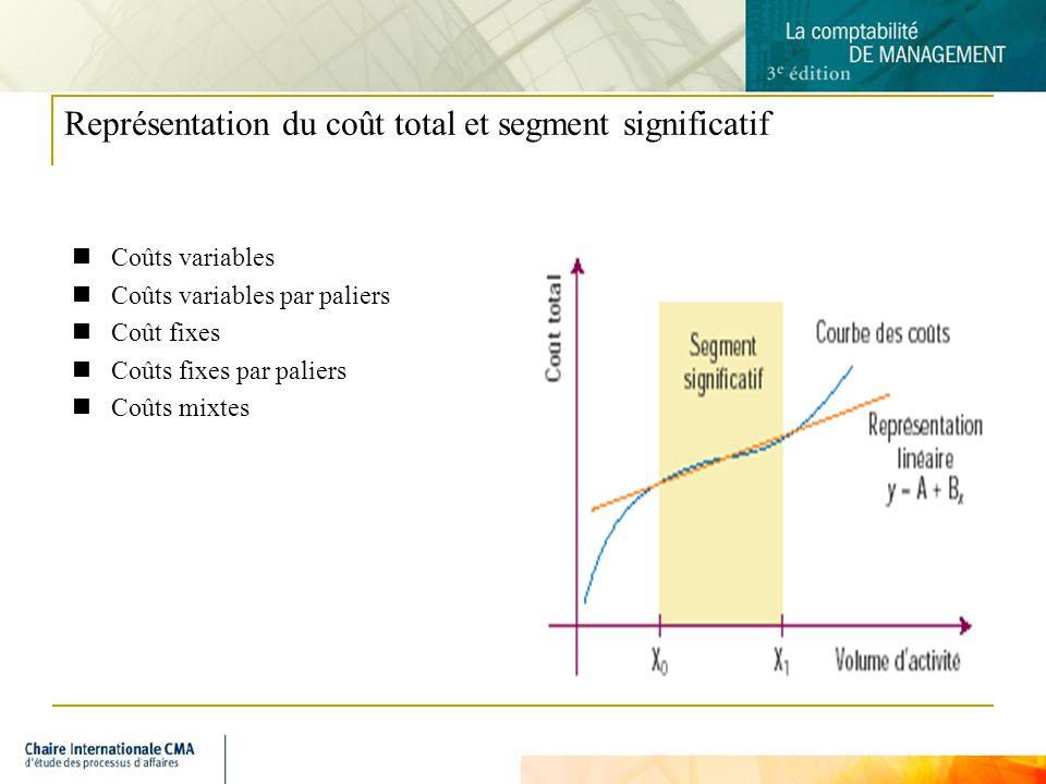 Représentation du coût total et segment significatif