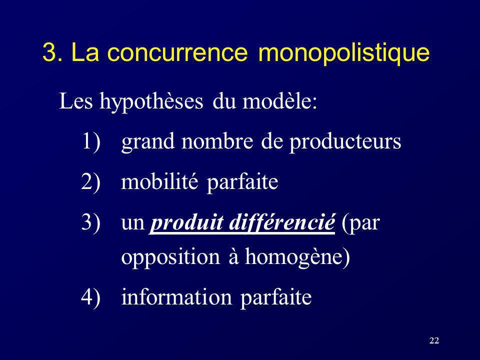 3. La concurrence monopolistique