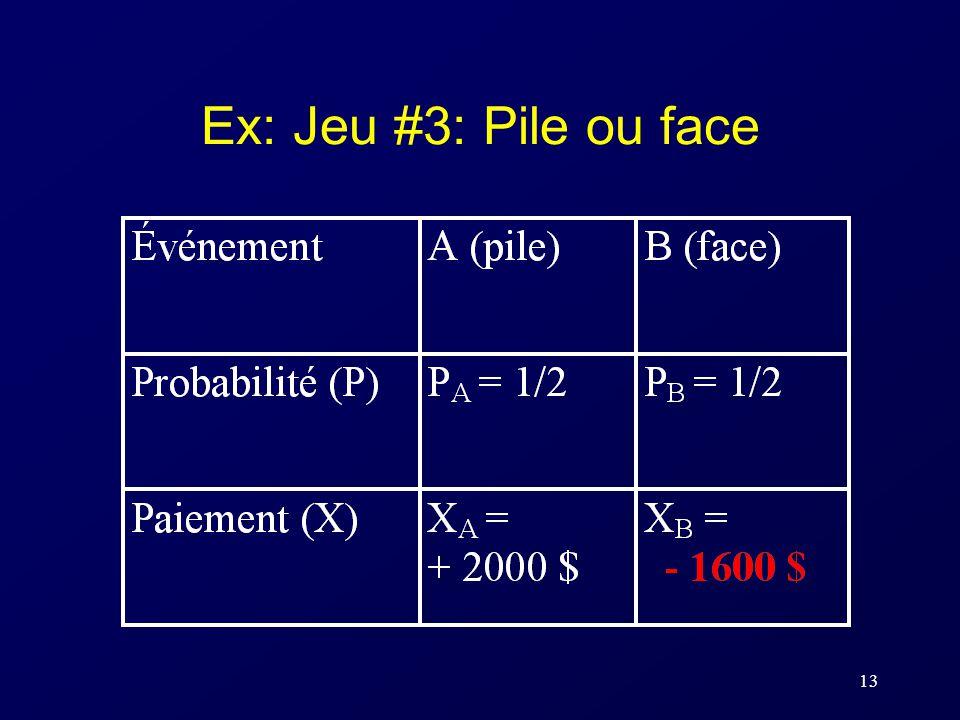 Ex: Jeu #3: Pile ou face