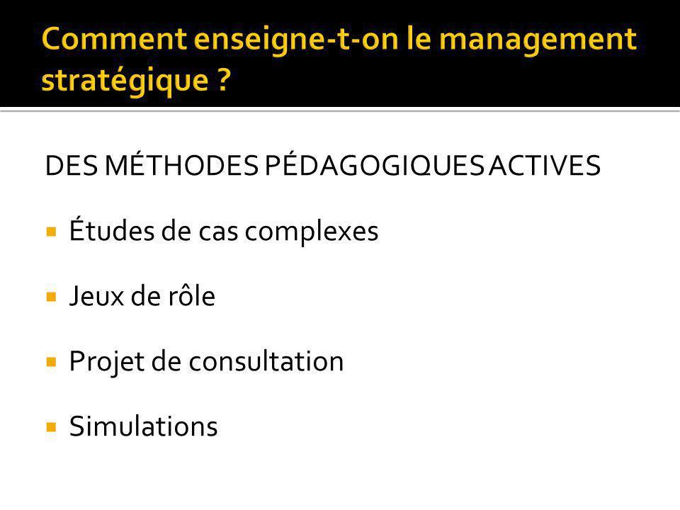 Comment enseigne-t-on le management stratégique