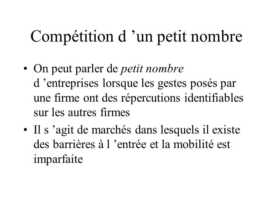 Compétition d 'un petit nombre