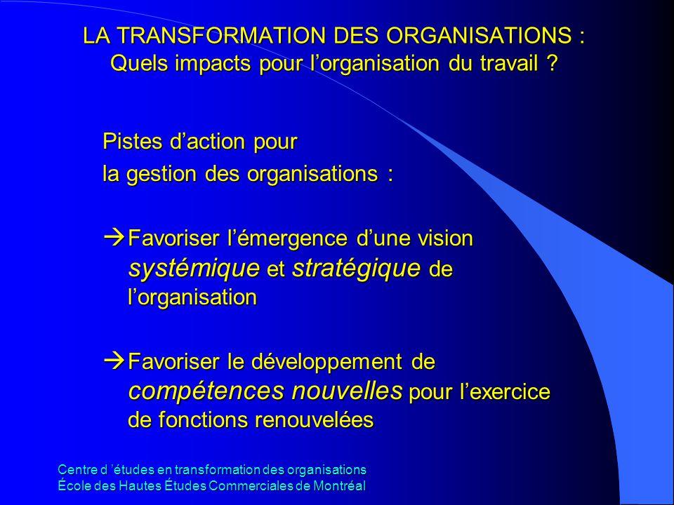la gestion des organisations :
