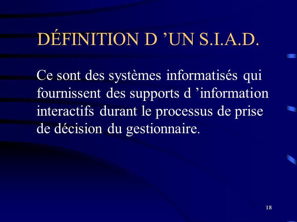 DÉFINITION D 'UN S.I.A.D.