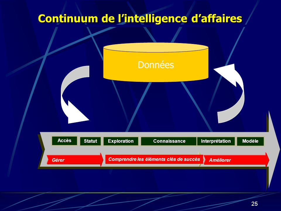 Continuum de l'intelligence d'affaires