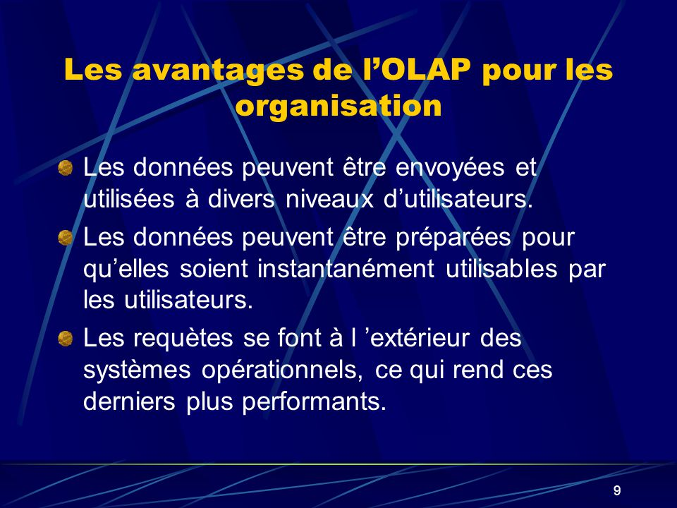 Les avantages de l'OLAP pour les organisation