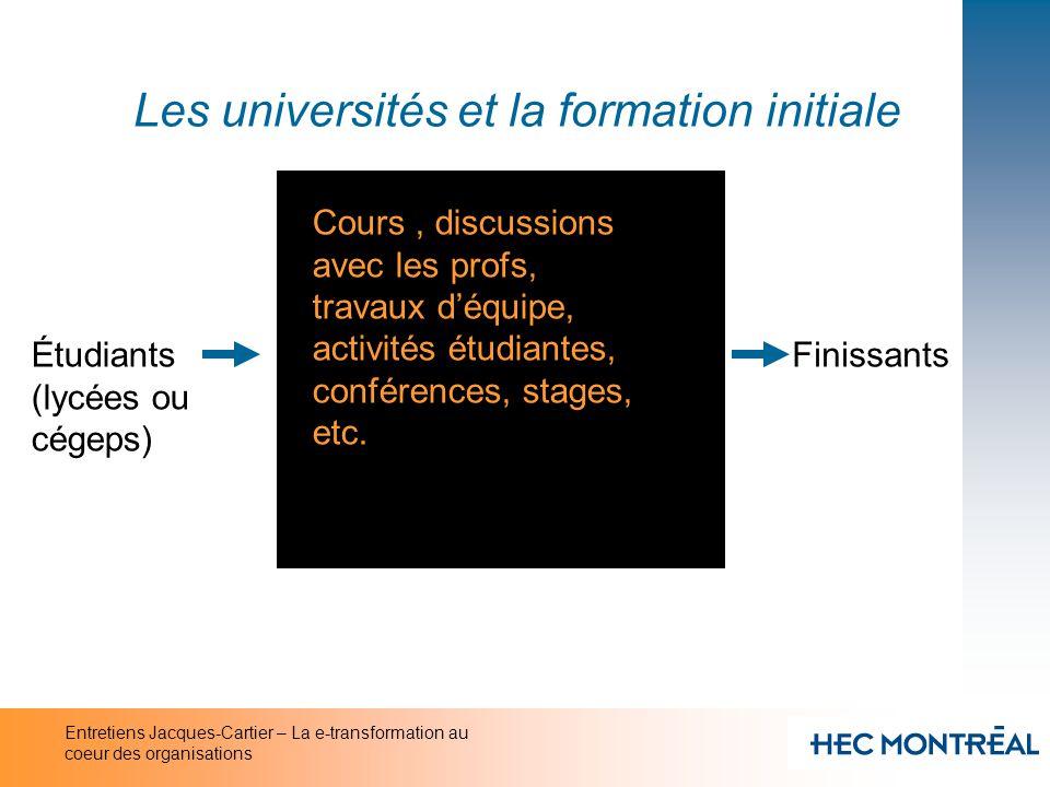 Les universités et la formation initiale