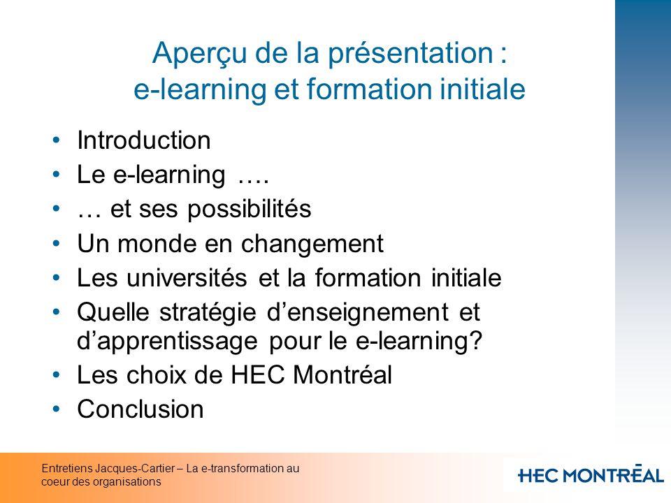 Aperçu de la présentation : e-learning et formation initiale