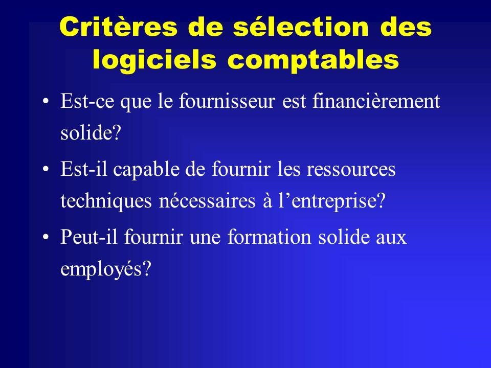 Critères de sélection des logiciels comptables