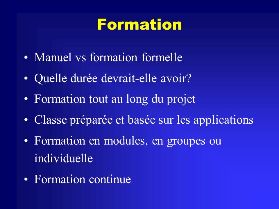 Formation Manuel vs formation formelle